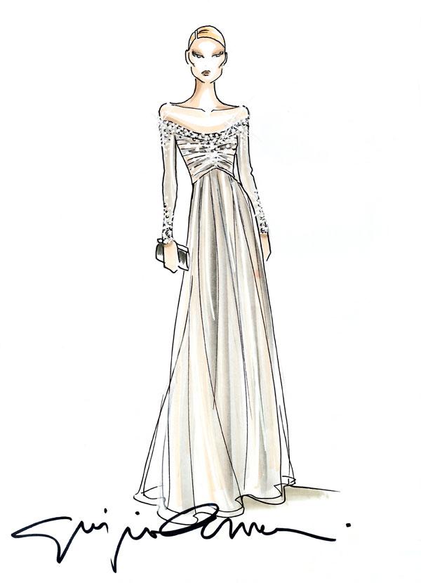 Beatrice Borromeo Sketch Dress