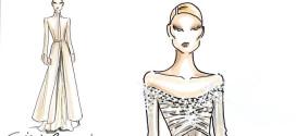 Beatrice Borromeo Sketch Dress By Giorgio Armani