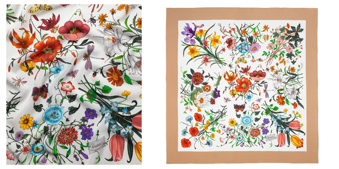 Gucci foulard-Flora collection