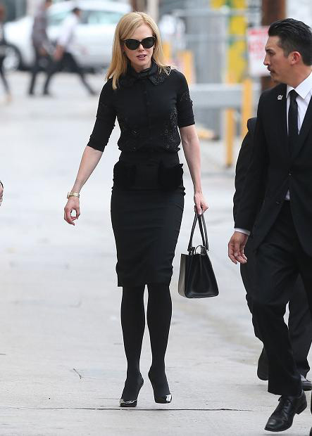 Nicole Kidman carries Ferragamo handbag