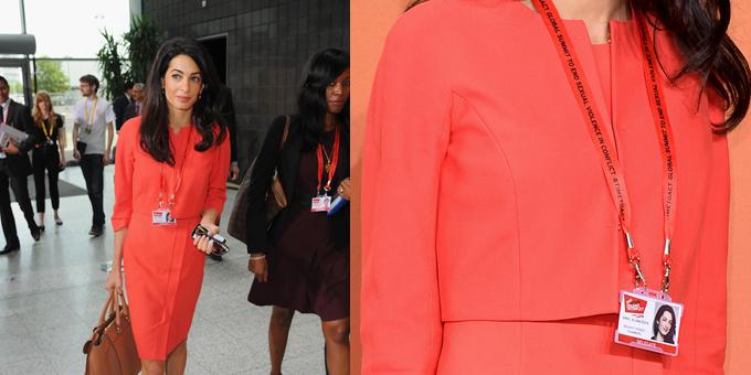 Amal Alamuddin, George Clooney's fiancée, wore a SS14 PAULE KA outfit