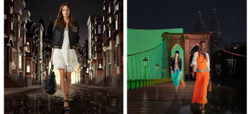 Ralph Lauren's Polo presents holographic 4D fashion event towering above The Lake at Central Park