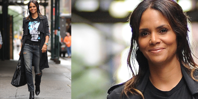 Halle Berry wore Michael Kors to support World Food Day while out in New York City