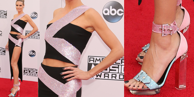 American Music Awards: Heidi Klum in Versace
