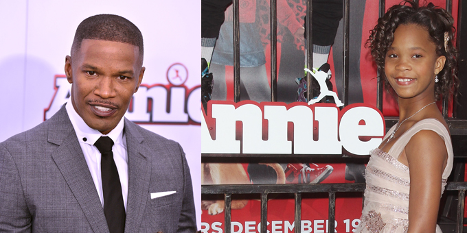 "GIORGIO ARMANI DRESSES QUVENZHANE' WALLIS & JAMIE FOXX FOR THE WORLD PREMIERE OF ""ANNIE"" IN NEW YORK"