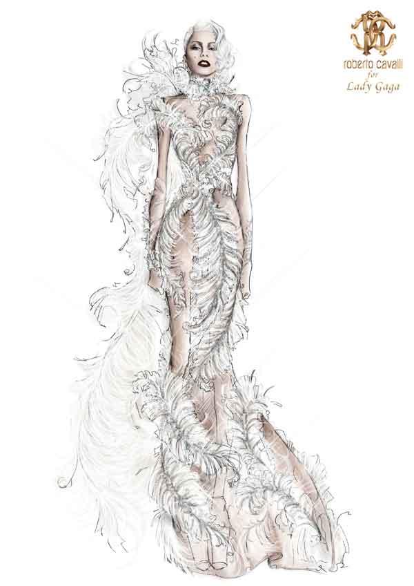 Lady Gaga in Roberto Cavalli Atelier