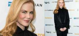 Nicole Kidman: black blazer by Elie Saab and Saint Laurent shoes