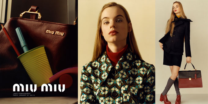 Miu Miu Automne 2015 Advertising Campaign by Jamie Hawkesworth