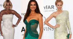 Petra Nemcova, Mary J Blige and Irina Shayk in Versace