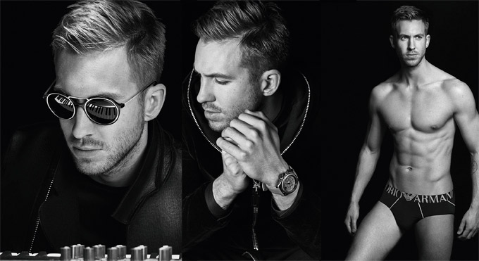 Emporio Armani continues its collaboration with world renowned DJ and producer Calvin Harris