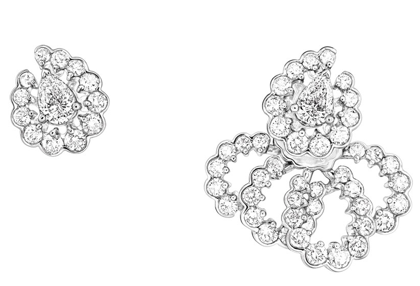 Archi Dior milieu du siecle earrings white gold and diamonds
