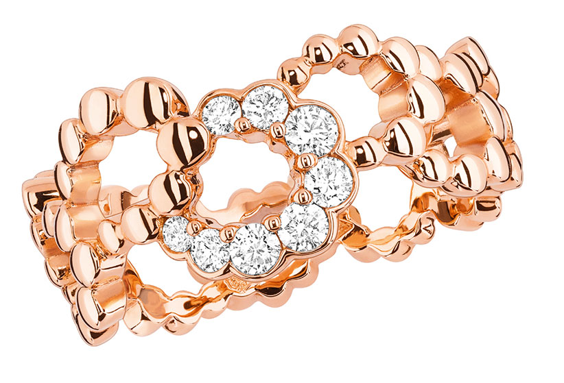 Archi Dior milieu du siecle ring pink gold and diamonds