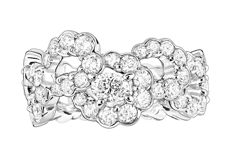 Archi Dior milieu du siecle ring white gold and diamonds