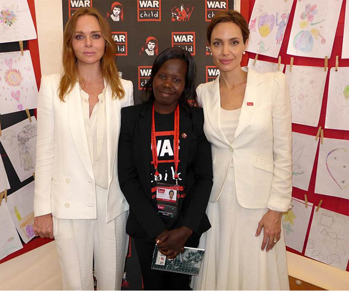Stella McCartney and Angelina Jolie and War Child