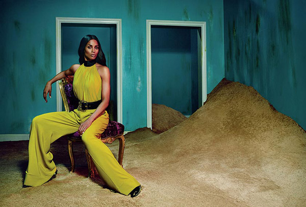 Ciara is the face of the Roberto Cavalli Fall/Winter 2015-16 Advertising Campaign