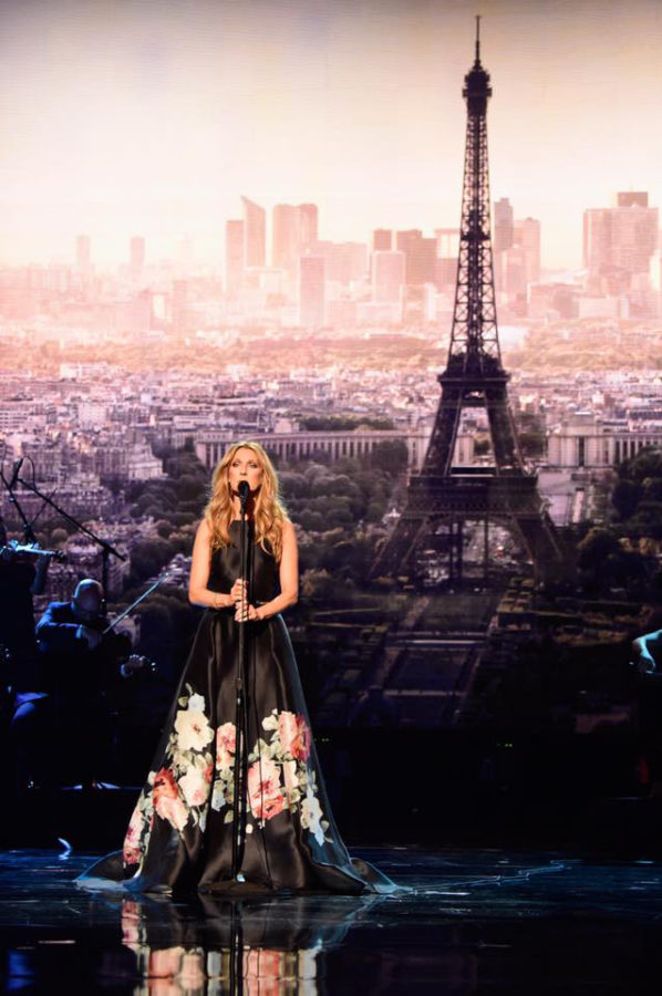 Elie Saab dresses Celine Dion