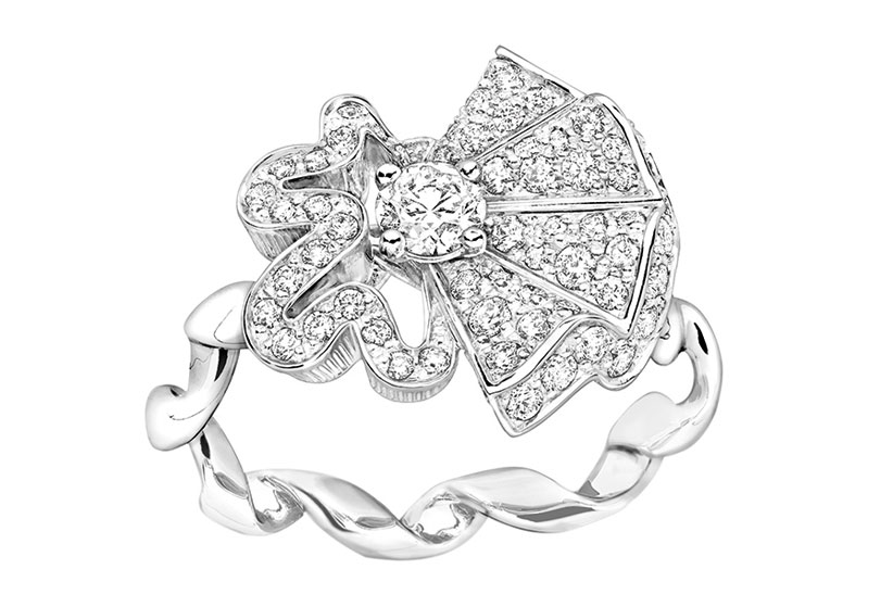 Archi Dior Cocotte ring white gold and diamonds